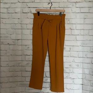 Pants - Soho Apparel Burnt Orange/Yellow Tie Slacks
